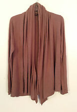 WOMENS CHARLOTTE RUSSE TAUPE LIGHT BROWN OPEN FRONT CARDIGAN SWEATER SIZE S