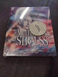 Microsoft Home Multimedia Strauss & Beethoven Big Box PC Games (Sealed) 1994