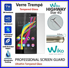 WIKO HIGHWAY STAR 4G Tempered Glass Vitre de protection d'écran en VERRE TREMPE