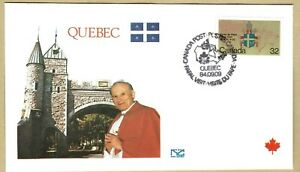 Ersttagsbrief FDC Papst Johannes Paul II  QUEBEC Kanada 1984