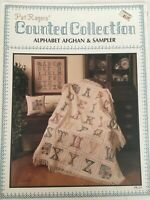 Pat Rogers Counted Collection Alphabet Afghan & Sampler Cross Stitch Pattern