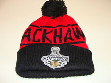 Chicago Blackhawks Hockey Cap Hat Beanie Toque Mitchell Ness Stanley Cup Champs