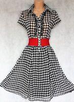 ATMOSPHERE SIZE 10 WW2 40'S 50'S LANDGIRL VINTAGE STYLE TEA DRESS # EU 38 US 6