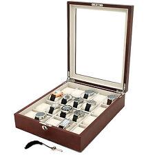 20 Watch Box Burlwood Finish Lock Key Tsnp20Bur-KEY-D SALE
