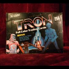 Tron Trading Cards / 36 Sealed Wax Packs / Display Box 1982 Vintage