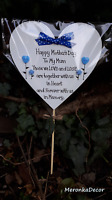 Mother's day, birthday, outdoor Memorial grave ornament-personalised, waterproof