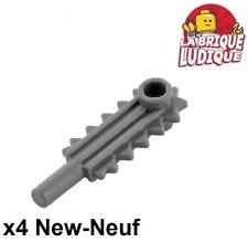 Lego - 4x Minifig utensil tronçonneuse chainsaw gris foncé/dark b gray 6117 NEUF