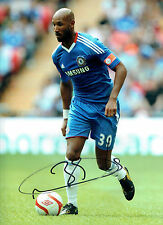 Nicolas ANELKA Signed Chelsea Premier League Autograph 16x12 Photo AFTAL COA