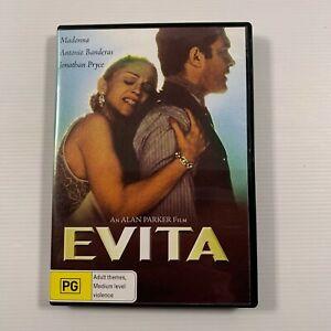 Evita (DVD 2007) 1996 film Antonio Banderas, Madonna Region 4