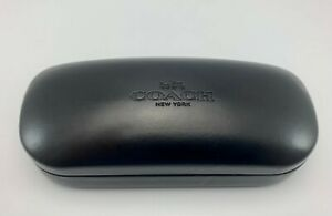 Coach Small Authentic Black Hard Side Clamshell Eyeglasses / Sunglasses Case