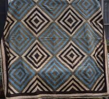 ANTIQUE HAND MADE MULTICOLOR BED HAND SEWN OLD QUILT LATE 1800