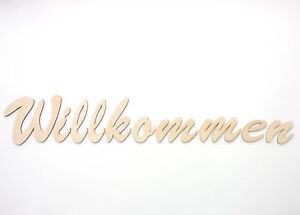 Willkommen Home Schild 5cm Hauseingang Firmeneingang Wandtattoo Holz Buchstaben