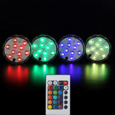 Submersible LED Lights IR Remote Control Battery Operated Color Changing Light~