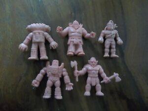 Vintage 1980's Mattel M.U.S.C.L.E. Men Lot: 5 YSNT Flesh-Colored Action Figures