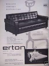 PUBLICITÉ 1962 ERTON ERTOMATIC KAY FAUTEUIL CANAPÉ - ADVERTISING