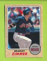 2017 Topps Heritage High # Action Variation - Bradley Zimmer (#576)  Indians