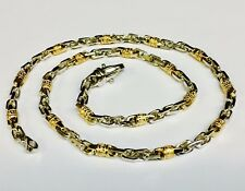 "10k Solid Gold Handmade Fashion Link Men's chain/Necklace 24"" 46 grams 4.5 MM"