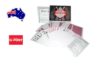 Queen's Slipper CANASTA Playing Cards Double Deck Casino Quality w/Guide,Genuine