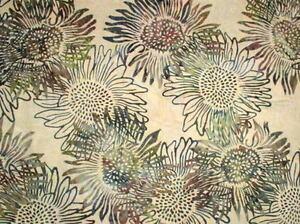 "40"" Remnant Hoffman Bali Batik Layered Sunflowers F2038-367-Aspen Batik Fabric"