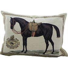 Zierkissen Pferd Pferdesattel braun Gobelin Kissen Sofakissen Dekokissen 35x45cm