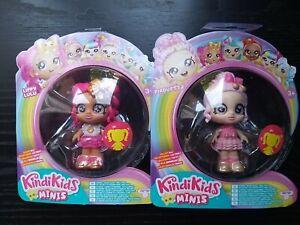 2 X Kindi Kids Minis Bobblehead Figures Lippy Lulu & Pirouetta Brand New