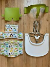 USED Stokke Tripp Trapp Baby Set - Light Green with Animal Patterns
