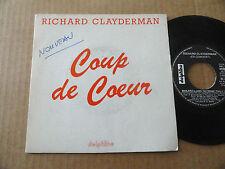 """DISQUE  45T PROMO DE RICHARD CLAYDERMAN  """" COUP DE COEUR """""""