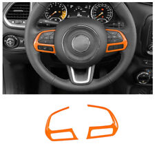ABS Orange Car steering wheel decorative trim frame For Jeep Renegade 2015-2018