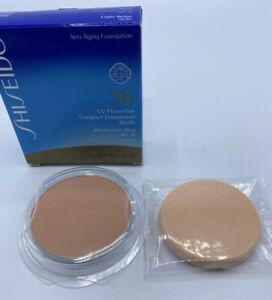 Shiseido UV Protective Compact Foundation 36 Light Beige .42 oz Refill + Sponge