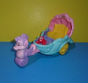 Fisher Price Little People Disney Little Mermaid Ariel's Coach Musical Carriage