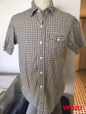 POST O'ALLS Medium PLAID Flap Pocket Short Sleeve BF Work Shirt POST OVERALLS