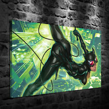 HD Printed Oil Painting Decor Art On Canvas Cat Woman 12x18inch Unframed