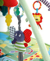Music Elephant Bell Rattles Bed Safety Seat Baby Plush Stroller Dolls Toys Kids