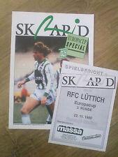 Programme + magazine SK Rapid Wien Österreich Austria - Liege Belgium 1989 UEFA