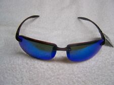 Calcutta R1CBM Rip Sunglasses Crystal Frame Blue Mirror Lens