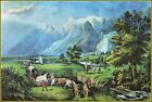Currier & Ives:The Rocky Mountains, Emigrants Crossing The Plains Art Print
