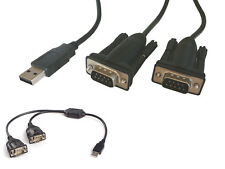 Convertisseur USB 2 PORTS RS-232 RS232 - CHIPSET PROLIFIC - XP VISTA SEVEN 8 10