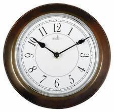 Acctim 24586 Newton Bold Wall Quartz Clock, Dark Wood