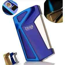 Tiger Windproof  Jet  Torch Butane Gas Flame Cigar Cigarette Lighter w/ Box Blue