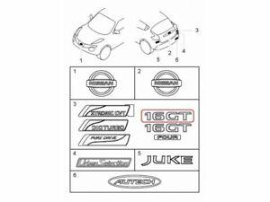 """[NEW] JDM Nissan Juke F15 Emblem Rear """"16GT"""" Genuine OEM"""