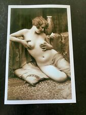 Antique Photo -Risque Pinup Girl in vintage artistic  nude from the early 1900's