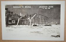 RPPC OF THE FRANKLIN STREET BRIDGE. JOHNSTOWN, PA FLOOD. 3/18/36