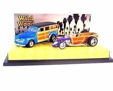 2-CAR SET, WILD WOOD ,BLUE/PURPLE HOTWHEELS 1:64 DIECAST CAR COLLECTOR'S MODEL