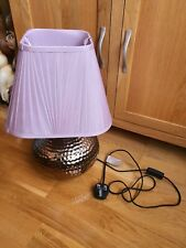 Golden base with lily colour shade Table Lamp light