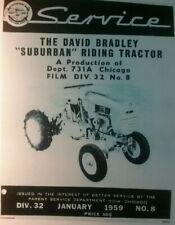 Sears David Bradley Suburban Db 1959 Riding Lawn Garden Tractor Service Manual
