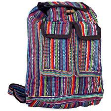 Multicolored Mini Gheri Style Rasta Striped Preppy Hippie Boho Backpack Purse