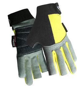 Rock/Aid Climbing Belaying Via Ferrata Rapelling Keprotec/Aramid 2 Digit Gloves