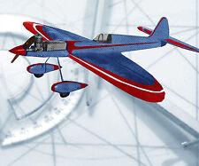 "Vintage Model Airplane Plans 36"" .15-35 Control Line Stunt Printed Plan + notes"