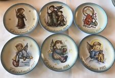 Hummel Limited Edition Christmas Plates Lot 6 Mint Condition '72 '74 '75 '83 '84