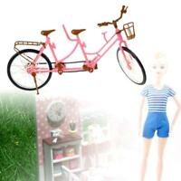 Dolls House Miniature 1:12 Scale Garden Accessory Red Metal Double Bicycle Bike